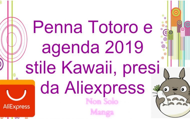 Penna Totoro e agenda 2019 stile Kawaii, presi da Aliexpress