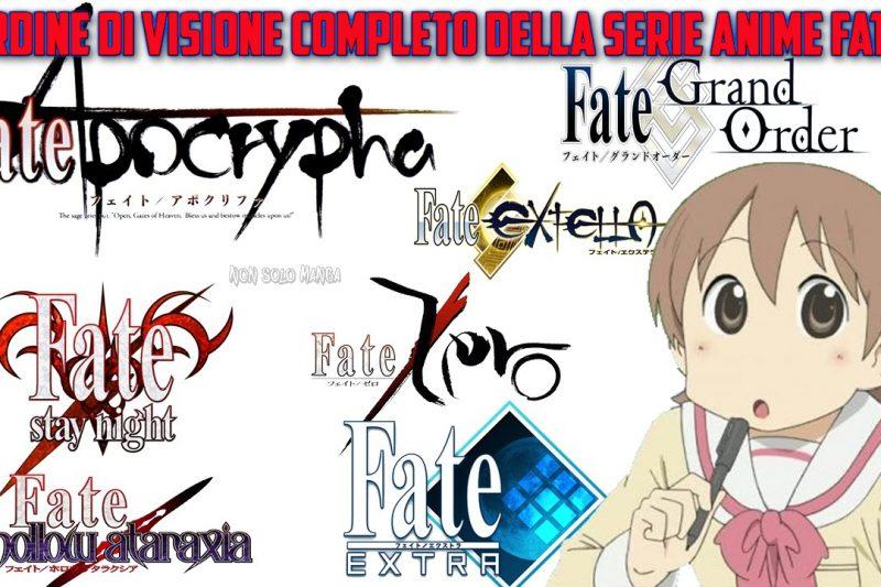 Ordine di visione completo della serie anime Fate