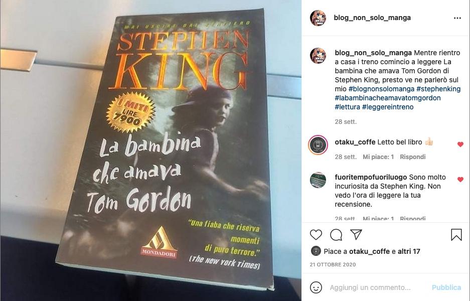 La bambina che amava Tom Gordon di Stephen King.